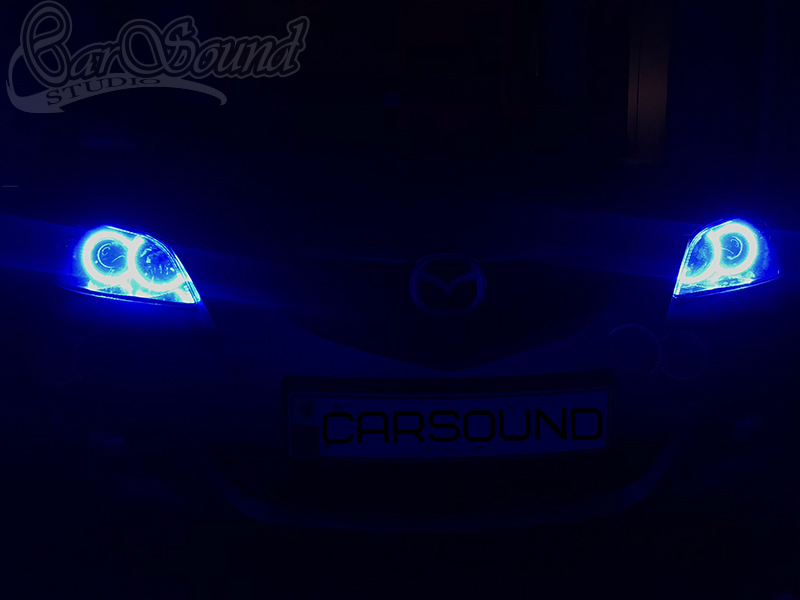 angel eyes rgb mazda 3